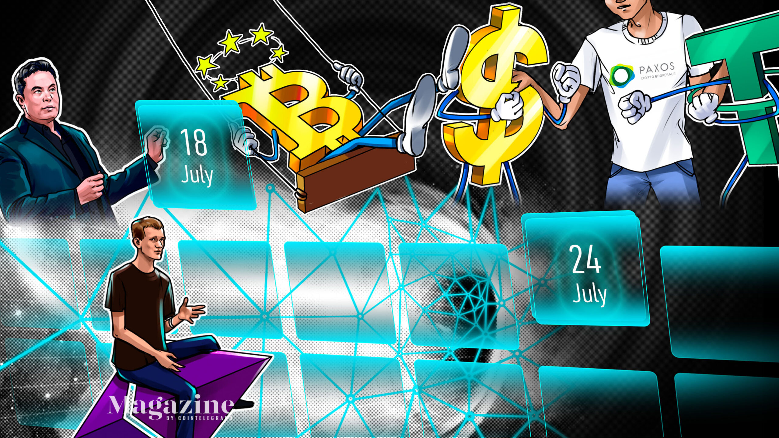 SpaceX owns BTC, daily Dogecoin volume soared to nearly $1B in Q2, Grayscale eyeing DeFi and ETF: Hodler's Digest, July 18–24